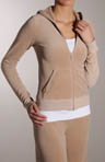 Juicy Couture Long Sleeve Zip Hoodie Velour Jacket JGMU0001