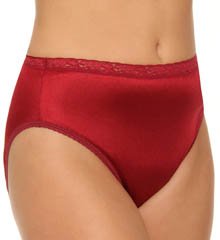 Plus Size Nylon Hi Cut Panty 4-Pack