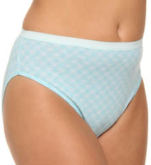 Just My Size Plus Size Cotton Hi Cut Panties - 5 Pack