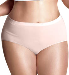 Just My Size Plus Size Seamless Comfort Brief Panties - 3 Pack