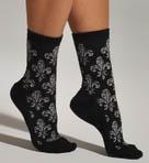 Metallic Fleur De Lis Socks