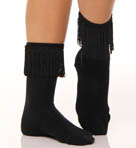 K. Bell Fringe Trimmed Sock 12149