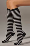 Wide Stripe Knee Sock