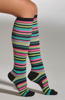 Variegated Stripe Knee High Socks
