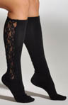 K. Bell Lace Panel Knee High Socks 32117