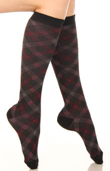 Plaid Knee High Sock