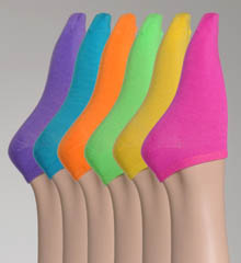 Solid Neon 6 Pack Ankle Socks