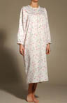 Brush Back Satin Floral Sleepshirt