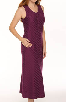 Houndstooth Sleeveless Gown