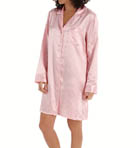 KayAnna Dots 'n Stripes Satin Brushed Back Nightshirt B12332