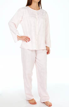 KayAnna Kamelia Garden Brushed Back Satin PJ Set