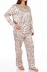 KayAnna Leopard Floral Satin Brushed Back PJ Set B15185