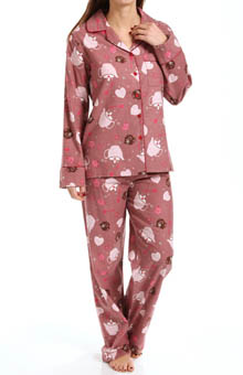 KayAnna Tea Time Flannel PJ Set