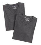 Super Fine Cotton V-Neck T-Shirts - 2 Pack