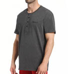 Kenneth Cole Short Sleeve Henley Sleep Top RNM1301