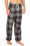 Checkered Cuff Leg Flannel Sleep Pants