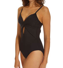 Kenneth Cole Swimwear Sunset Cliffs Underwire Wrap One-Piece Swimsuit KC5TA11