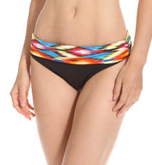 Kenneth Cole Swimwear Upon The Horizon Sash Hipster Fold Swim Bottom KC5TB96