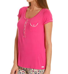 Kensie Spring Starlet Short Sleeve Top 2013686