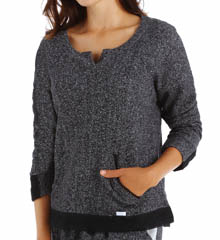 Kensie Solid French Terry Pullover 2016224