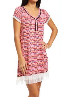 Kensie Kiss Me Kate Short Sleeve Sleepshirt 2313677