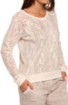 Kensie First Frost Long Sleeve Sweater Top 2413569
