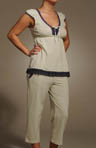 Hello Sunday Cap Sleeve V-Neck PJ Set