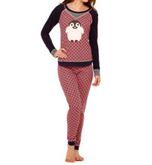 Kensie Cozy Long Sleeve Top And Pant Set 2916234