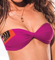 Color Blocked Neo Bandeau Swim Top Image