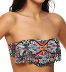 L Space City Tribe Jessie Reversible Fringe Swim Top CT76T13