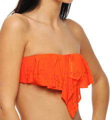 Flutter Bye Laser Cut Bandeau Swim Top