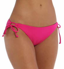 L Space Solids Dandy Keyhole Tie Side Swim Bottom LS21F14