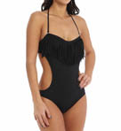 L Space Free Love Bandeau Fringe One Piece Swimsuit MT20M14