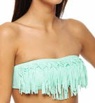 L Space City Tribe Mixers Knotted Dolly Fringe Swim Top MX55T13
