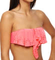 L Space Brasilia Hunter Rose Laser Cut Bandeau Swim Top MX94T13