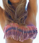 Santorini Sunrise Dolly Fringe Swim Top