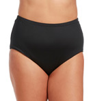 Plus Size Core Solid High Waist Swim Bottom Image