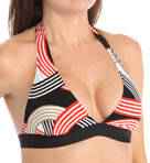Road Trip Banded Halter Foam Cup Swim Top Image