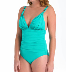 La Blanca Core Solids Cross Back Foam Cup One-Piece Swimsuit LB5R017