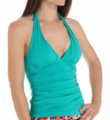 La Blanca Core Solid Halter Goddess Tankini Swim Top LB5R084