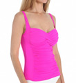 Plus Size Core Solid Sweetheart Tankini Swim Top Image