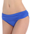 Core Solid Shirred Waistband Hipster Swim Bottom Image