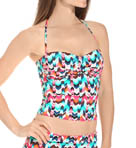 La Blanca Essence Chevron Convertible Mid Tankini Swim Top LB5R674