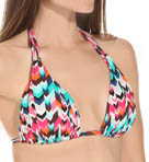 Essence Chevron Slide Foam Cup Halter Swim Top Image