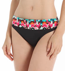 La Blanca Essence Chevron Shirred Band Hipster Swim Bottom LB5R695