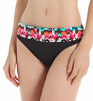 Essence Chevron Shirred Band Hipster Swim Bottom Image