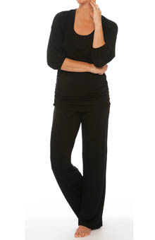 V Neck Nursing PJ Set