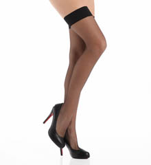 La Perla Calze Lycra Thigh High with Solid Band 11747