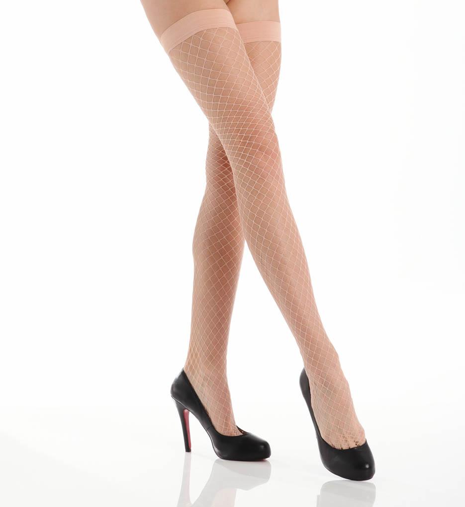 La Perla Calze Rete Fishnet Thigh Highs
