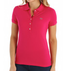 Short Sleeve 5 Button Stretch Pique Polo Image